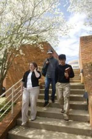 LL.M. students stroll along the Wake Forest University campus