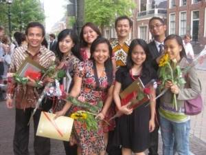 Graduation Day of LLM in 2009 - Indonesian students