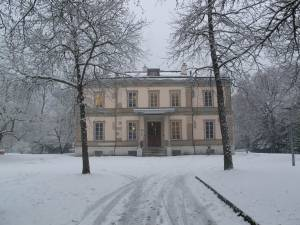 The Geneva Academy Headquarters, Villa Moynier, under the snow.