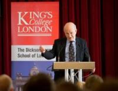 The Rt Hon Lord Judge talks to King's students about the 'Art of Advocacy'