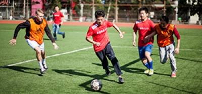 Changping Campus offers football, tennis, badminton, track and field and much more.