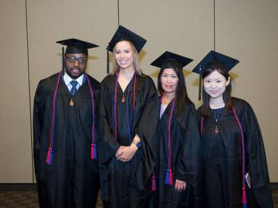 Some of our LLM graduates at the 2017 UC Law Hooding Ceremony