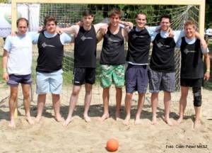 The University supports various student activities, including sports. A team with the University`s logo on their shirts.