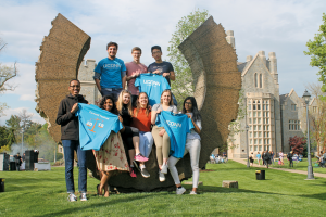 LLM students on UConn Law's campus
