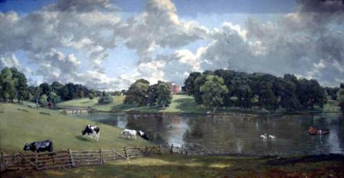 John Constable's portrait of Wivenhoe House, now at the National Gallery, The Mall, Washington DC - its changed since he painted it