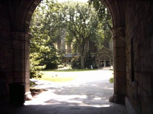 Entrance to Courtyard of U of M Law School