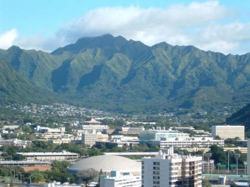 The University is located in lush Manoa Valley, which is just 10 minutes from Waikiki Beach.