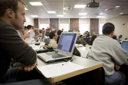 Typical classroom.