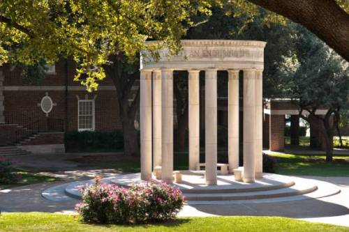 SMU Dedman School of Law is in a beautiful, tree-lined campus