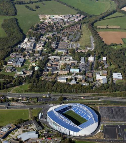 University campus and new AMEX Stadium