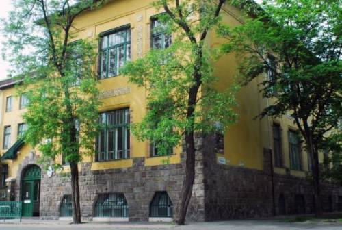 The central building of the Faculty of Law. University buildings are located in different districts of Budapest.