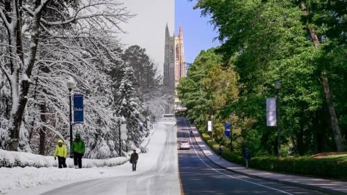 Duke University Chapel: Winter vs. Summer