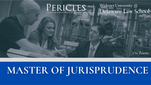 Pericles Law School and Widener University Delaware Law School present MASTER OF JURISPRUDENCE IN CORPORATE LAW Now you can earn a US-Recognized Law Degree while studying in Russia. Find out more at: pericles.info
