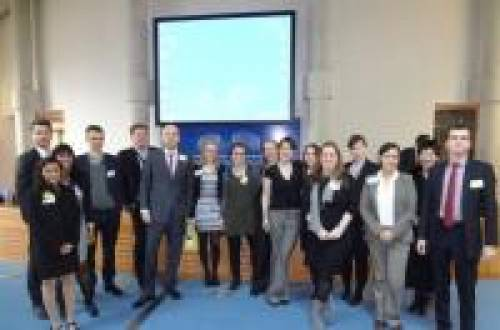 Current PG Intellectual Property students and QM staff at EIPIN event Strasbourg, 2013