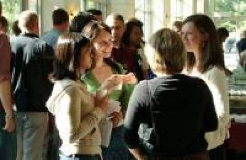 Students at an Oregon Law networking event.