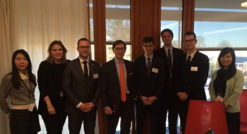LL.M. students meet with the German Ambassador to the U.S. on a career trip