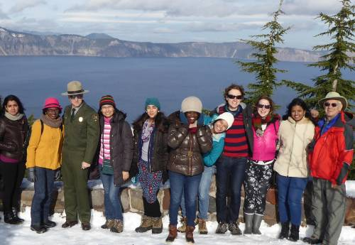 LL.M. students on a field trip to Crater Lake National Park