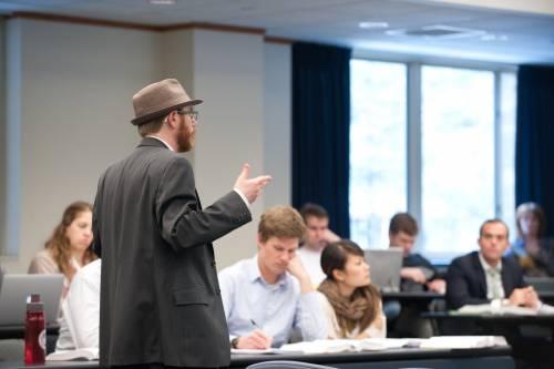 Professor Lyons in class