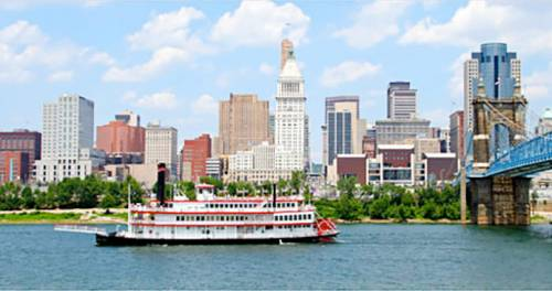"Cincinnati, Ohio, the ""Queen City"" on the Ohio River"
