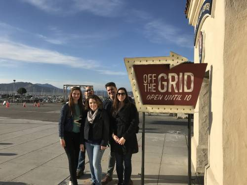 Graduate Law program staff and students at Off The Grid in San Francisco.