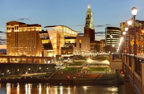 Riverfront view in Hartford, Connecticut