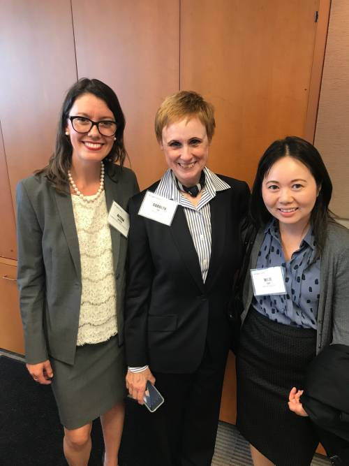 LLM alumnae and Prof. Carolyn Lee at a women in tax networking event.