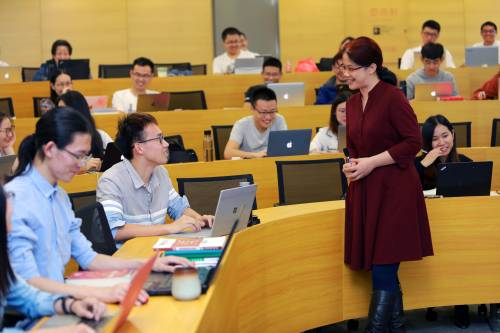 Class with Professor Jin Zining