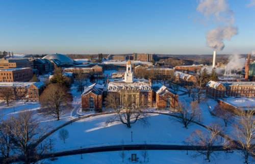The University of Connecticut main campus in Storrs, Connecticut